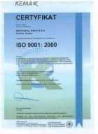 Certyfikat 9001:2000